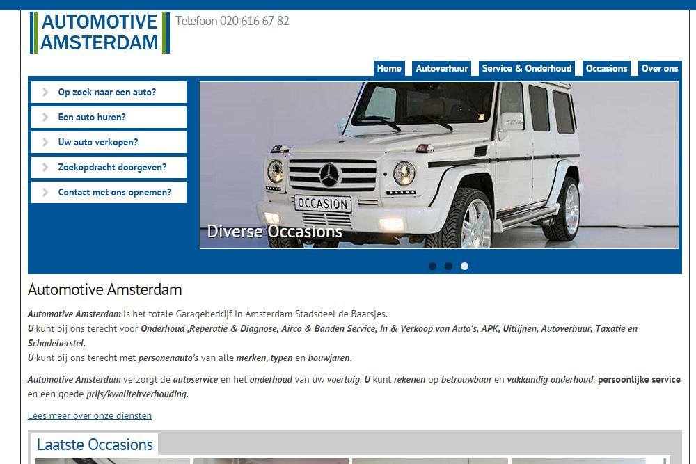 Nieuwe website Automotive Amsterdam