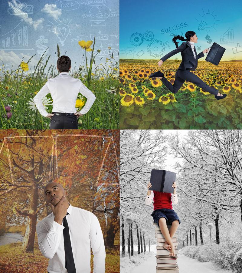 balans, seizoenen, persoonlijke ontwikkeling