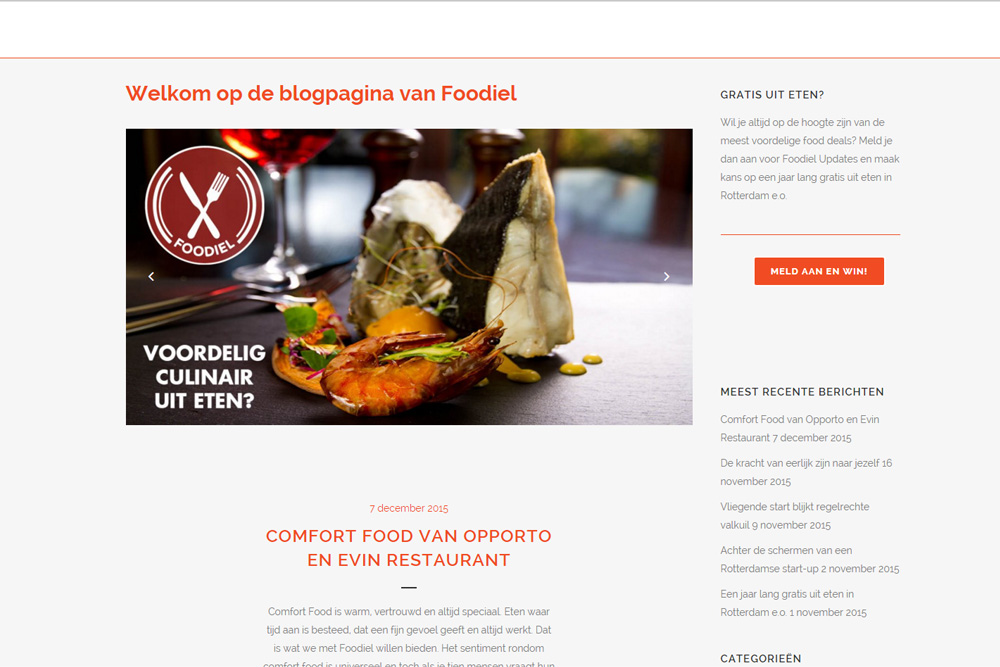 Blogger / contentmanager Foodiel