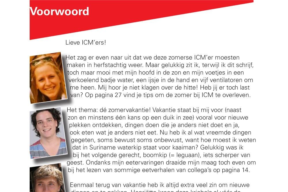 Redacteur personeelsblad ICM