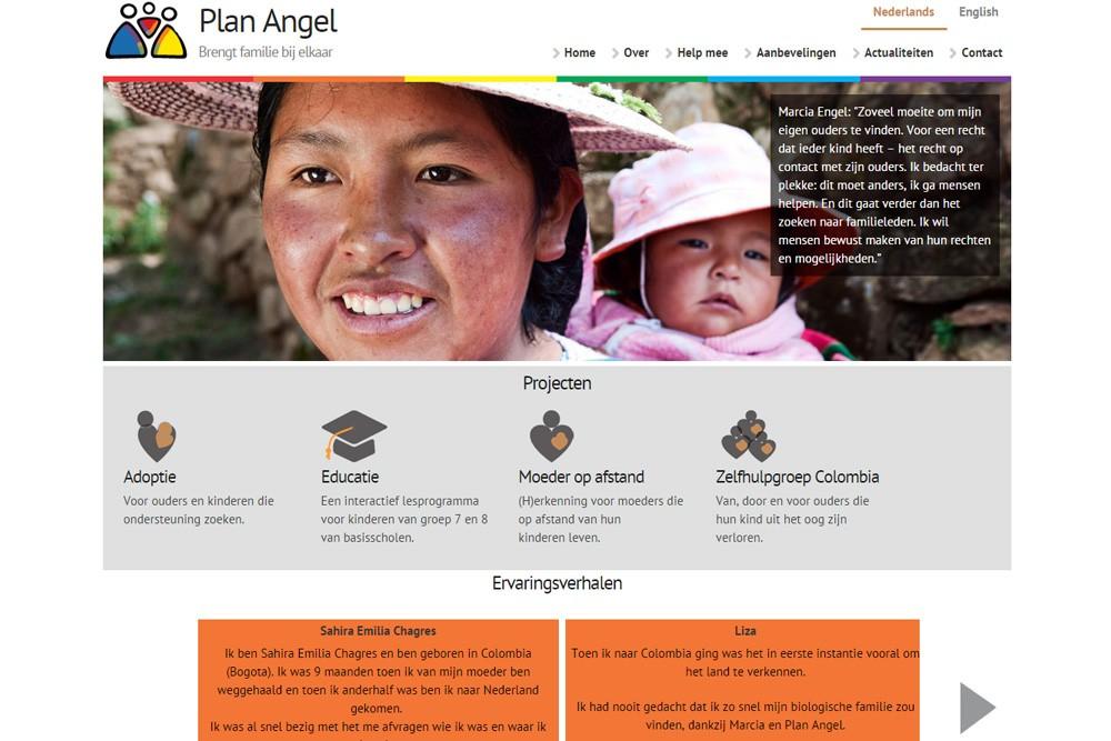 Nieuwe website Plan Angel